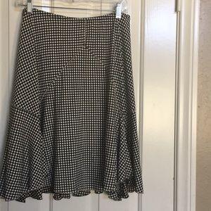 Studio M black skirt with white dots